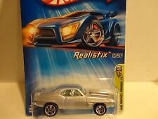 2005 Hot Wheels #5 Silver 1969 Pontiac Firebird T/A w/5 Spoke Wheels