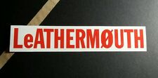 LEATHERMOUTH LEATHER MOUTH RED WHITE 1x7  MUSIC STICKER