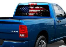 Patriotic American Flag Eagle Rear Window Decal Sticker Pick-up Truck SUV Car