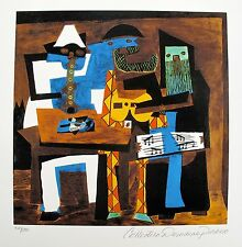 Pablo Picasso THREE MUSICIANS Estate Signed & Numbered Small Giclee