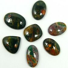WHOLESALE LOT 7 PC A++ ANTIQUE NATURAL BLOODSTONE LOOSE GEMSTONE CABS 111 CTS (2