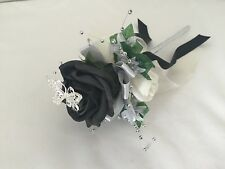 Wedding Flowers Ivory Rose Bouquet, , Bridesmaids,flower -Girl wrist corsage