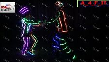 Halloween Costume Party LED SUIT STICK FIGURE USA MEN WOMEN KIDS