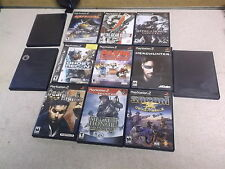 Lot of 12 Playstation 2 Games Crash Nitro Kart Tony Hawk Metal Gear Solid 2