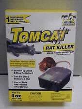Tom Cat - Disposable Rat and Mouse Bait Station - Kid and Dog Resistant Station