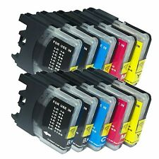 10 PK LC61 Ink Set fits Brother LC-61 MFC-250C MFC-295CN MFC-385CW MFC-490CW