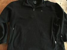 Champion Men's Double Dry Quarter 1/4 Zip Sweatshirt Fleece 2XL Black Mint