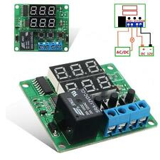 Digital 2 LED DC 12V Minuterie Cycle Temporisation Contrôle Timer Relais Module