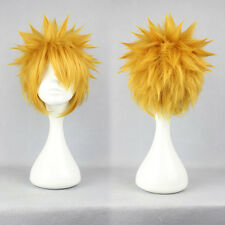 5Cosplay Uzumaki Naruto Anime Short Synthetic Hair Lolita Men Party Fashion Wigs