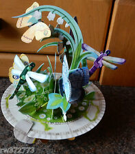 """3D  Pop Up Card by Santoro Graphics - Pirouette Cards  """"Butterfly and Dragonfly"""""""
