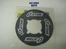 Trials Bike Jitsie Rear Sprocket Sticker Protector. Solid Sprocket. Black. 48T