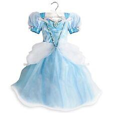 Disney Store Princess Cinderella Blue White Light up Costume Dress 5/6 D103 NWT