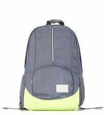 BIPRA 15.6 in Laptop Backpack Scuola College sacchetti per MacBook Pro (Grigio e Verde)
