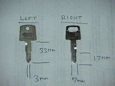 Classic Honda motorcycle keys cut to code, free UK post.