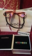 Genuine Disney Pandora Murano Beads, 7 In Total Princess Etc, Gift Box And Bag