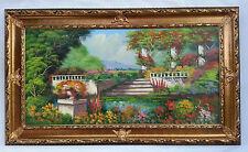 Dipinto Olio su Tela con Cornice - 85x145 cm - Paesaggio di Campagna - Quadro