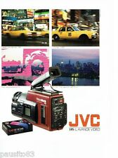PUBLICITE ADVERTISING 116  1989  JVC  caméra   Vidéo movie  VHS