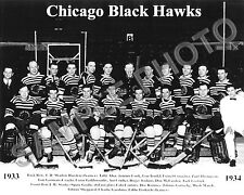 1933-34 CHICAGO BLACKHAWKS 1ST STANLEY CUP TEAM 8X10 PHOTO