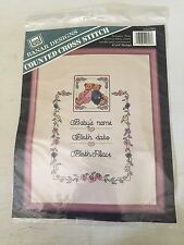 "Banar Designs counted Cross Stitch Kit BABY ANNOUNCEMENT 8X10"" New #CSM-603"