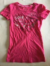 Aero Girls Short Sleeve Summer Tee T-Shirt Pink Heart Dream Live S/P