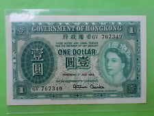 Hong Kong $1 1st July 1959 QEII (aUNC)