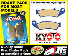 FRONT SET OF DISC BRAKE PADS TO SUIT HONDA NX250 J K L ZL M P 2P (87-93)