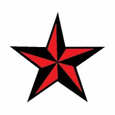 Red Natuical Star Temporary Tattoo: 2 small tattoos Made in the USA