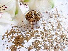 Nail Art Chunky *LaTTe* Champagne Coffee Matte Hexagon Glitter Spangle Mix Pot