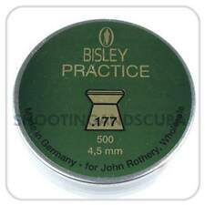 Bisley Practice .177 (4.5mm) ~ Tin of 500 pellets for Air Gun Rifle Pistol