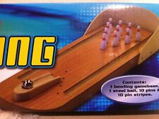 New table top games bowling Wood Base , Steel Ball
