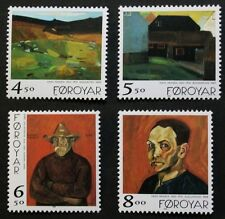 Paintings by Hans Hansen stamps, 1998, Faroe Islands, SG ref: 351-354, MNH