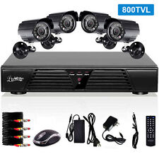 4Channel  Video Surveillance CCTV D1 DVR Security System 4 Outdoor Bullet Camera