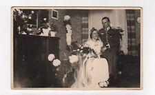 MA B689 Foto AK Hochzeit Soldat Wehrmacht mit Braut