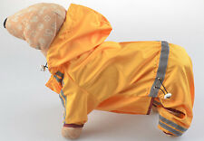NEW Durable DOG WATERPROOF RAIN COAT TROUSER SUIT CLOTHES EXTRA SMALL/LARGE