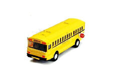 Vintage Yellow School Bus Diecast Model pull back action openable doors 5 inch