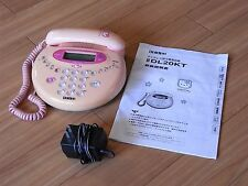 1998 Hello Kitty Telephone Uniden DL20KT Sanrio Japan Vintage Rare Pink