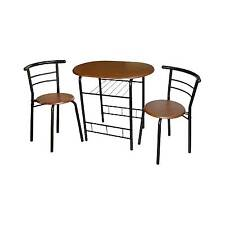 3 Piece Bistro Set Metal/Espresso - TMS