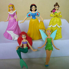 NEW DISNEY 6mix Princess Snow Belle Tinkerbell Mermaid Aurora Collection Figures