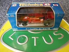 Lotus 78 Technica 6 Imperial Gunnar Nilsson Eidai Grip Mint Boxed