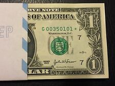 """2003 STAR NOTE $1 Dollar Chicago """"G"""" Crisp, Uncirculated ,consecutive"""