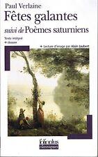 VERLAINE  Poèmes Saturniens & Fêtes Galantes  Littérature française  Poésie