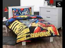 SINGLE BED BATMAN SUPER HERO KIDS LICENSED QUILT DOONA COVER SET + PILLOWCASE
