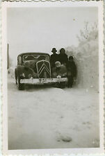 PHOTO ANCIENNE - VINTAGE SNAPSHOT - VOITURE AUTOMOBILE CITROËN NEIGE -CAR SNOW 2