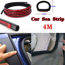 4M D-Type Car Truck Van Motor Door Rubber Seal Strip Weatherstrip Hollow Sealing