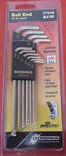 Bondhus Blx10G GoldGuard 10 Piece Imperial Long Ball End Hex Allen Key Set 37938