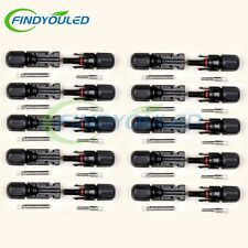 10 pairs MC4 Male Female M/F Wire Cable Connector Set Solar Panel 30A