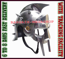 Medieval Vintage Armor Roman Gladiator Maximus Helmet Adult Wearable Helm