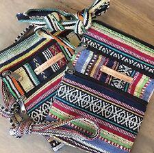 Boho Shoulder Bag, Cotton Handbag, Hippie Travel Bag, Eco Crossbody *Intro Sale*