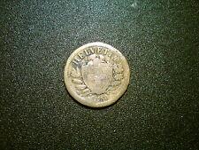 1850 SWITZERLAND 2 RAPPEN COIN