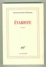 Évariste (Galois) roman François Henri Désérable résumé livre 13€90 avec port